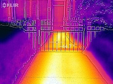 Melted Walkway with FLIR